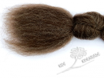Blue Faced Leicester - combed wool natural brown, loose